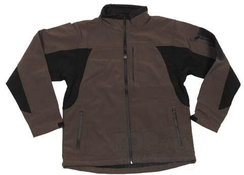 US Soft Shell bunda Flying FOX OUTDOOR® - olivo-černá