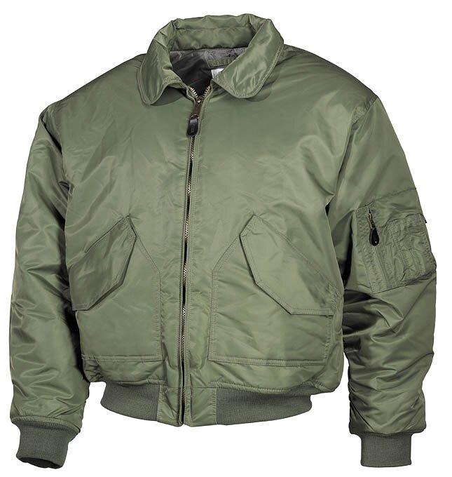 "Levně Bunda MFH® Flight Jacket CWU ""Bomber""- oliv (Barva: Olive Green, Velikost: L)"