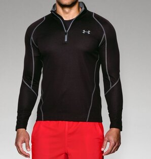 Polorolák UNDER ARMOUR® Grid ¼ Zip ColdGear® Infrared - černý