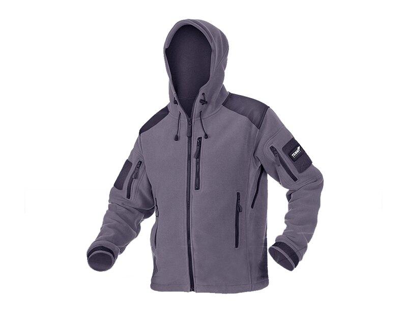 Levně Fleecová bunda Texar® Husky - šedá (Barva: Šedá, Velikost: 3XL)