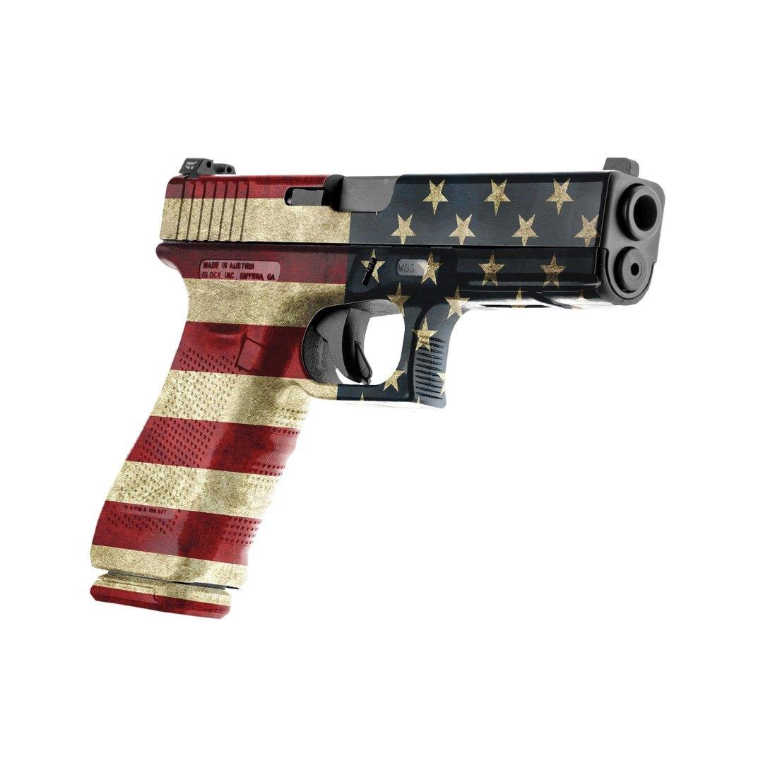 GunSkins® prémiový vinylový skin na pistoli – GS® America™ (Barva: GS® America™)