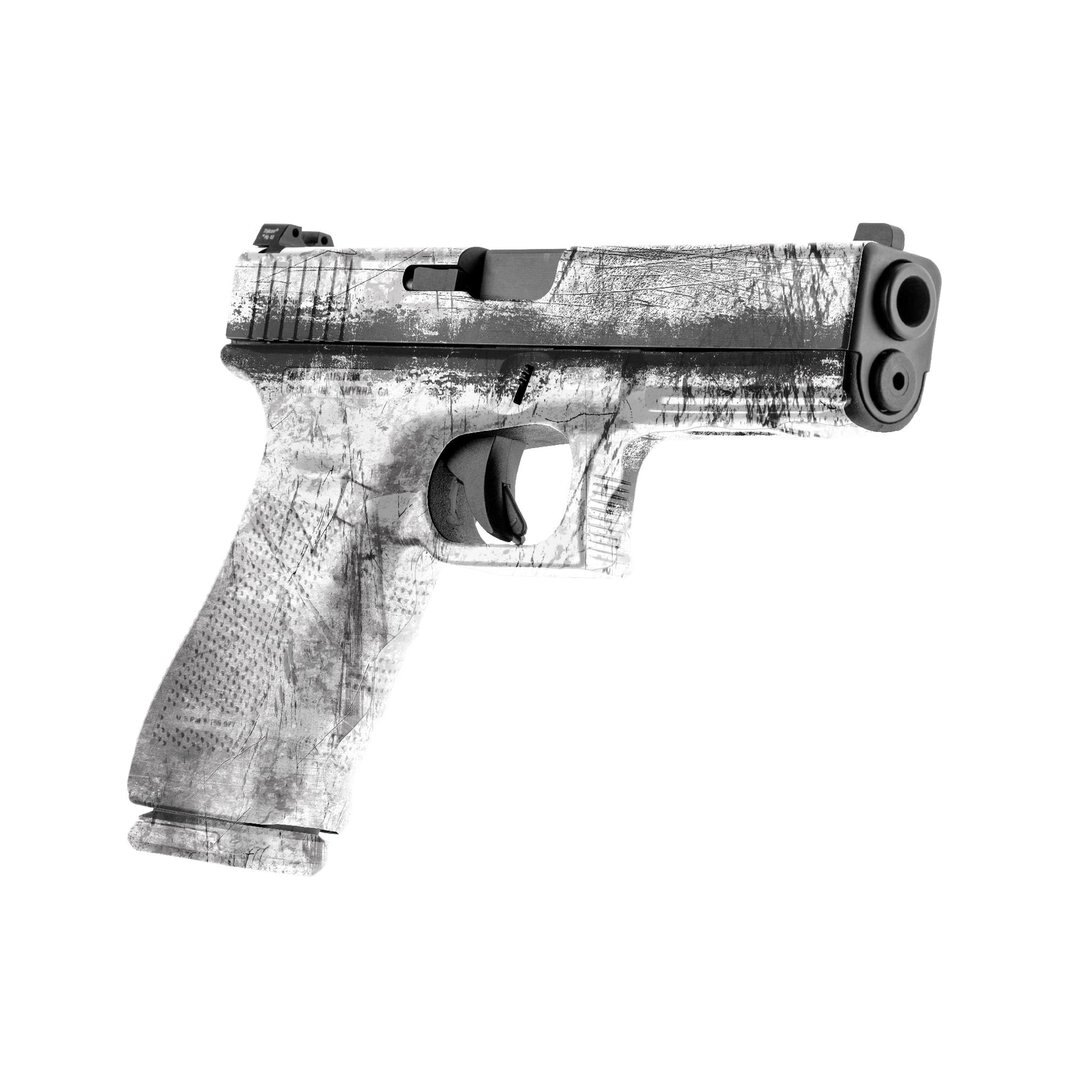 GunSkins® prémiový vinylový skin na pistoli – GS® Battle Worn Snow Trooper™ (Barva: GS® Battle Worn