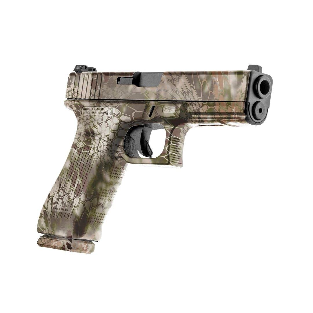 GunSkins® prémiový vinylový skin na pistoli – Kryptek Highlander™ (Barva: Kryptek Highlander™)