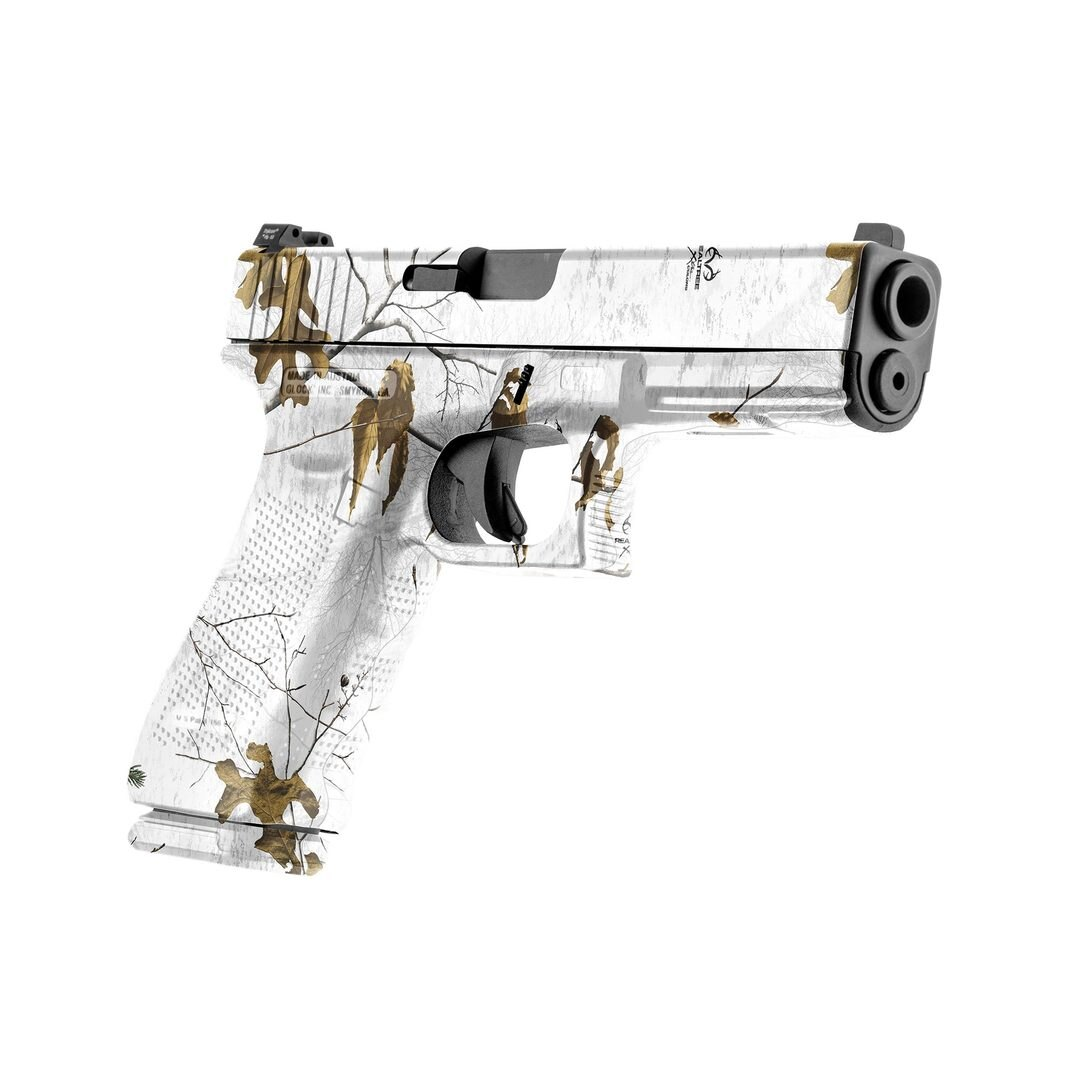 GunSkins® prémiový vinylový skin na pistoli – Realtree® Xtra Snow™ (Barva: Realtree® Xtra Snow™)