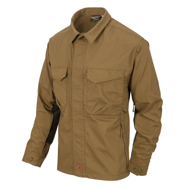 Levně Košile Woodsman Helikon-Tex® – Coyote / Taiga Green (Barva: Coyote / Taiga Green, Velikost: M)