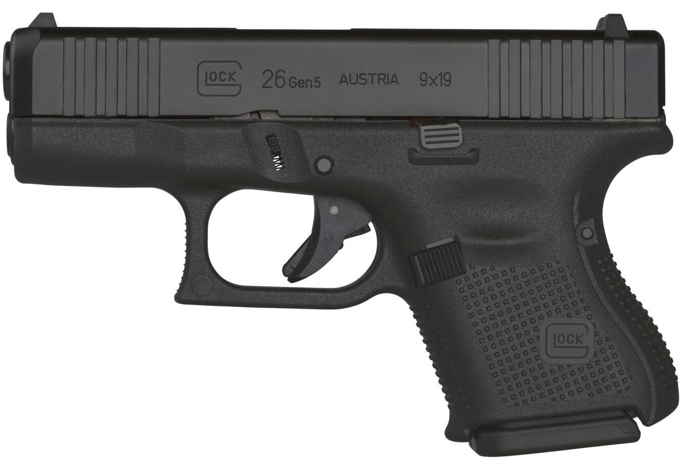 Pistole Glock 26 Gen5 FS / ráže 9x19 – Černá (Barva: Černá)