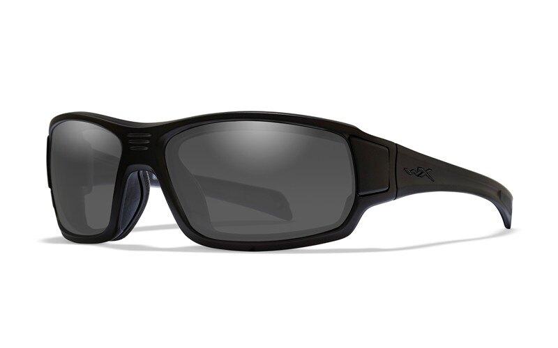 Levně Sluneční sportovní brýle Breach Wiley X® (Barva: Černá, Čočky: Kouřově šedé)