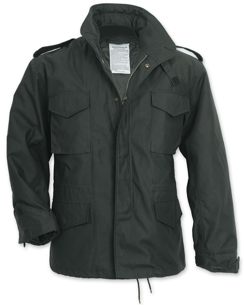 Levně US parka - polní bunda SURPLUS® M65 - černá (Barva: Černá, Velikost: 4XL)
