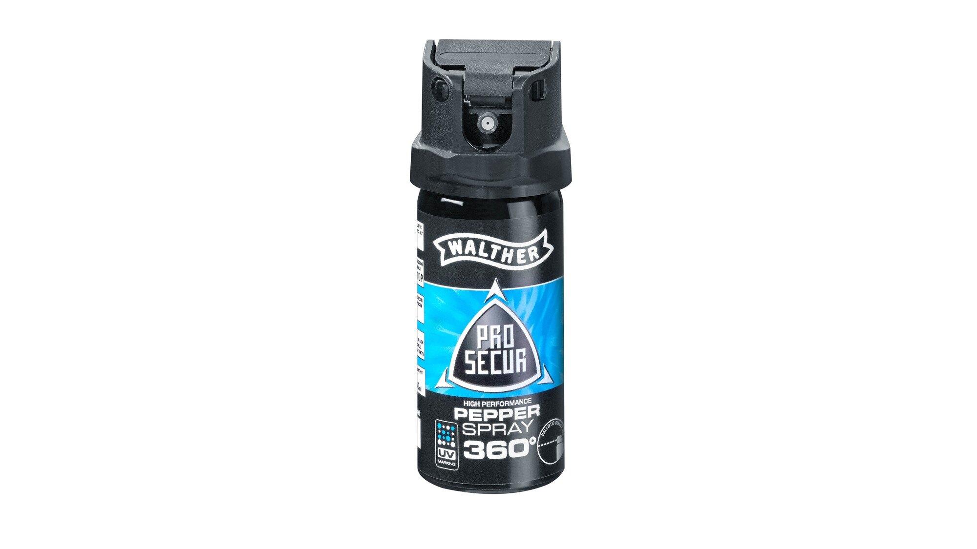 Obranný sprej JET ProSecur UV 360° Walther® 40 ml (Barva: Černá)