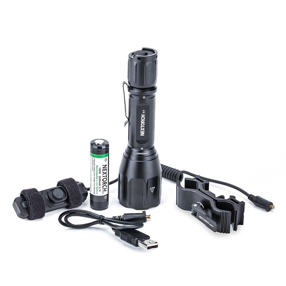 Svítilna T7 Hunting Set / 900 lm NexTorch® (Barva: Černá)