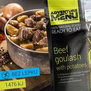 Adventure Menu® - Hovädzí guláš so zemiakmi 400g