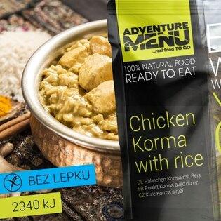 Adventure Menu® - Kuře Korma s rýží 400g