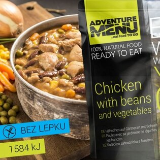 Adventure Menu® - Kuře po zahradnicku s fazolemi 400g