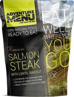 Adventure Menu® - Steak z lososa s šošovkovým ragú