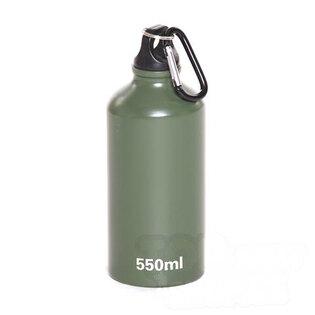 Alu fľaša s karabínou - zelená