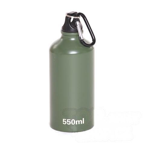Alu láhev s karabinou - zelená