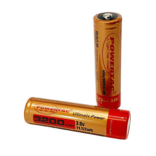 Baterie Powertac® 18650 dobíjecí (3200 mAh)