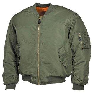 "Bunda MFH® Flight Jacket MA1 ""Bomber""- alpha modrá"