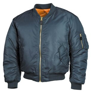 "Bunda MFH® Flight Jacket MA1 ""Bomber""- alpha modrá"