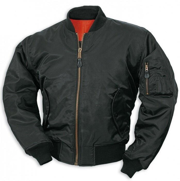 "Bunda SURPLUS® Flight Jacket MA1 ""Bomber""- černá"
