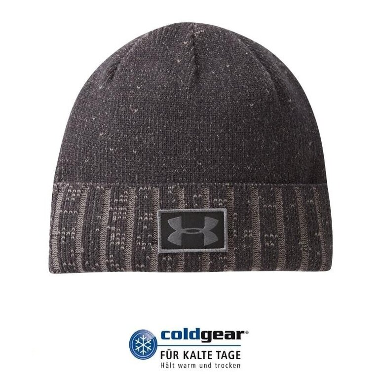 Čapica UNDER ARMOUR® Cuff Beanie ColdGear® - čierna
