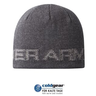 Čepice UNDER ARMOUR® Wordmark Beanie ColdGear® - šedá