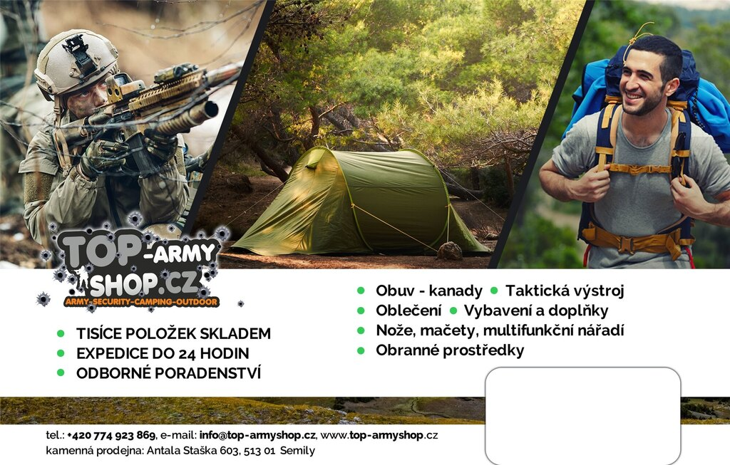 Dárkový poukaz Top-ArmyShop.cz v hodnotě 8 000 Kč