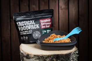 Dehydrované jedlo Tactical Foodpack® boloňské špagety s hovädzím mäsom