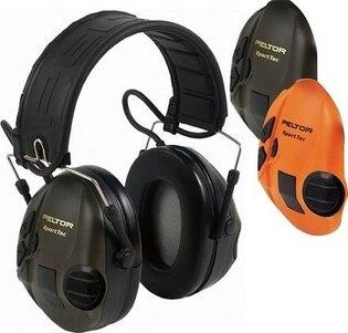 Elektronická ochranná slúchadlá 3M® PELTOR® SportTac™  Slimline - zelená, oranžová