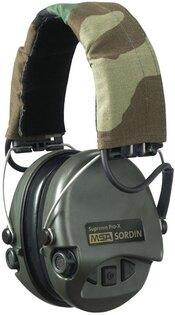 Elektronické chrániče sluchu MSA® Sordin Supreme Pro-X - zelené, Camo pásek