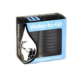 Filter pre fľašu Water-to-Go™  75 cl, 2 ks - čierny