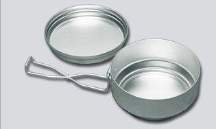 Hliníkový jedálenský riad dvojdielny (ešus) Nerezový dvojdielny ešus ALB®