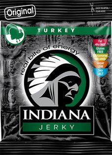 Indiana Jerky® - Krůtí šušené maso 25g