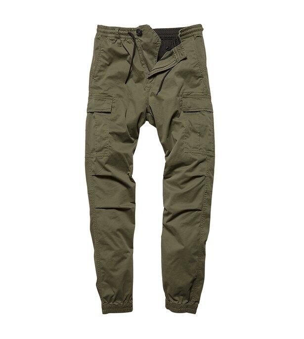 Kalhoty Vince Cargo Jogger Vintage Industries® - olivově zelená