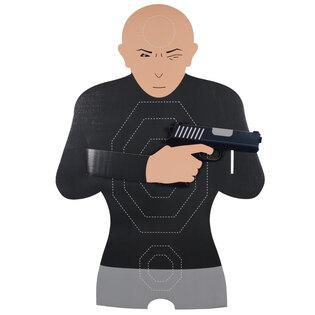 Kartónový terč muž s / bez zbrane Real Target®