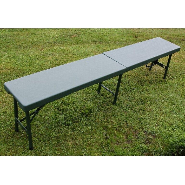 Kempingová skládací lavice ZOWN® - zelená