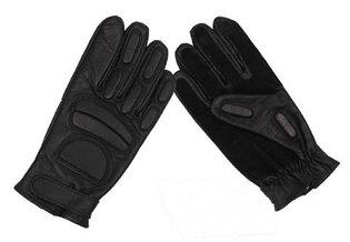 Kožené rukavice MFH® polstrované - černé