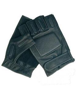 Kožené rukavice s polstrováním Mil-Tec® - černé bezprsté