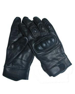 Kožené rukavice TACTICAL Mil-Tec®, plastová ochrana