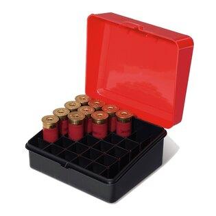 Krabička na náboje - brokové 25 ks Plano Molding® USA - Black/Red