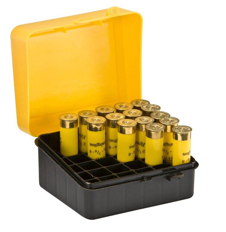 Krabička na náboje - brokové 25 ks Plano Molding® USA - Yellow-Black