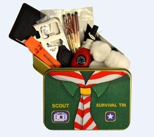 Krabička poslednej záchrany BCB® Scout Survival Tin