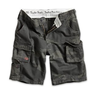 Kraťasy RAW VINTAGE SURPLUS® Trooper Shorts - black camo