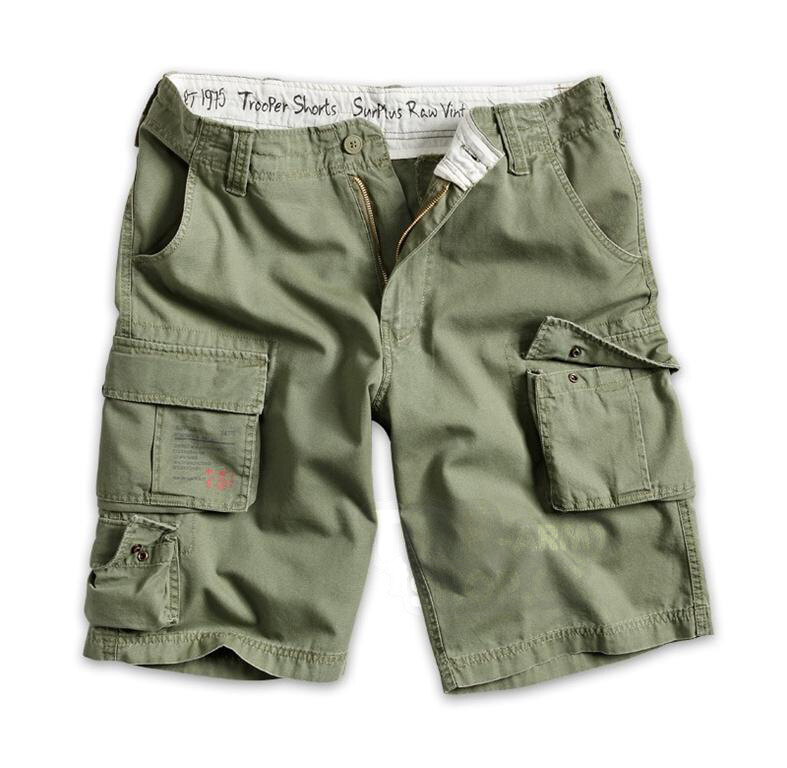 Kraťasy RAW VINTAGE SURPLUS® Trooper Shorts - oliv