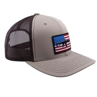 Kšiltovka BRCC® Flag AR Patch Trucker Hat - Tan Brown