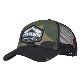 Kšiltovka Era Trucker Born for action PENTAGON® - US woodland