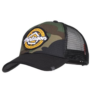 Kšiltovka Era Trucker Tactical Sportswear PENTAGON® - US woodland