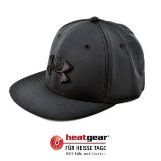 Kšiltovka UNDER ARMOUR® Elevate HeatGear® s plochým kšiltem - černá