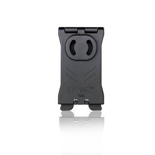 Molle klip T - Serie Cytac® - obdĺžnikový, čierny