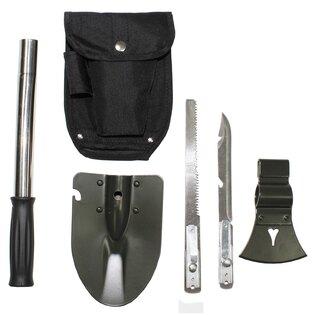 Multifunkční skládací lopatka MFH® - černá